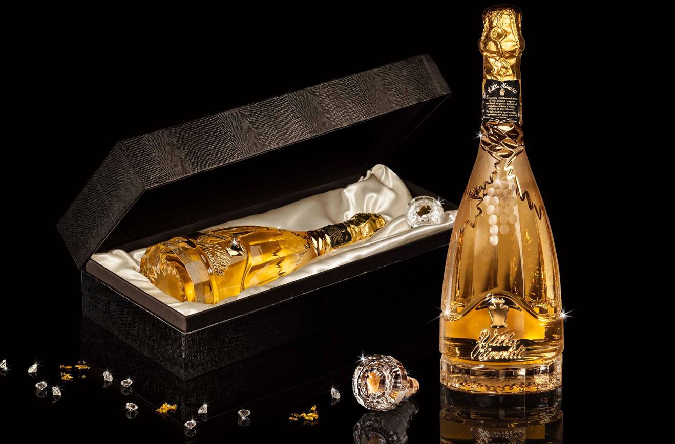 distillate cuveè crystal bottle